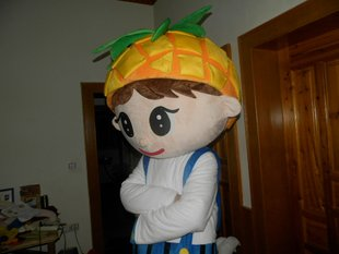 Cartoon Fruit Plush Dolls Doll Clothing Headgear Pineapple Jackfruit People Wear Walking Doll Clothing Mascot Costume