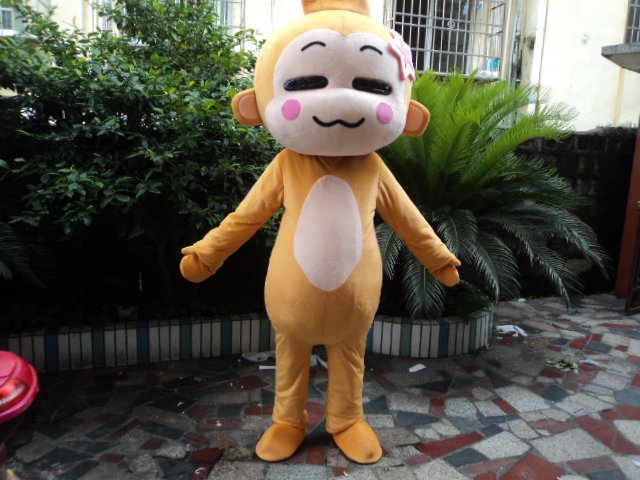 Cartoon Doll Clothing Adult Costumes Walking Cartoon Show Hiphop Monkey Plush Doll Clothing Small Monkey Mascot Costume