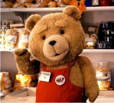 Movie Cartoon Doll Cute Bear Teddy Bear Plush Toy Bear Costume Mascot Costume