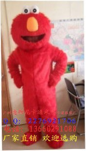 Cartoon Walking Doll Clothing Performances Props Festive Supplies After Another Strange Hairy Elmo Mascot Costume