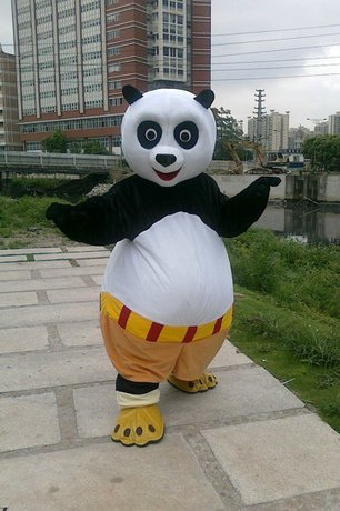 Panda Cartoon Mascot Costume Clothing Advertising The Opening Ceremony Costume Suit Kung Fu Panda