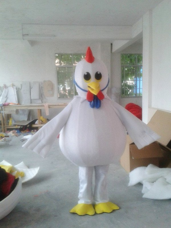 White Rooster Cartoon Clothing Cartoon Walking Doll Clothing Promotional Stage Show Props Dolls Doll Mascot Costume