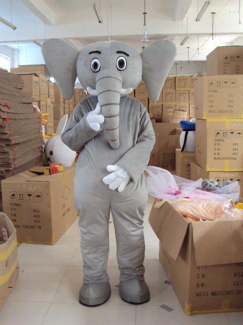 Adult Cartoon Costume Adult Elephant Gray Elephant Walking Performances Clothing Props Mascot Costume
