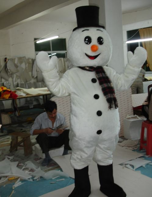 Adult Walking Cartoon Clothing Performance Clothing Snowman Snowman Christmas Events Mascot Costume