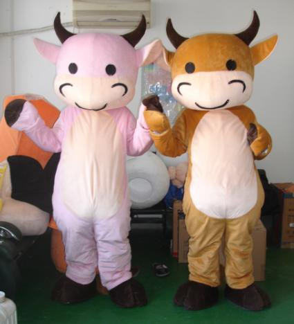 Cow Cartoon Animal Costumes Cartoon Clothing Cartoon Dolls Walking Festival Performance Clothing Cow Mascot Costume
