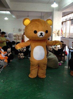 Easily Bear Cartoon Clothing Cartoon Walking Doll Cartoon Costumes Performing Its Lazy Bear Doll Mascot Costume