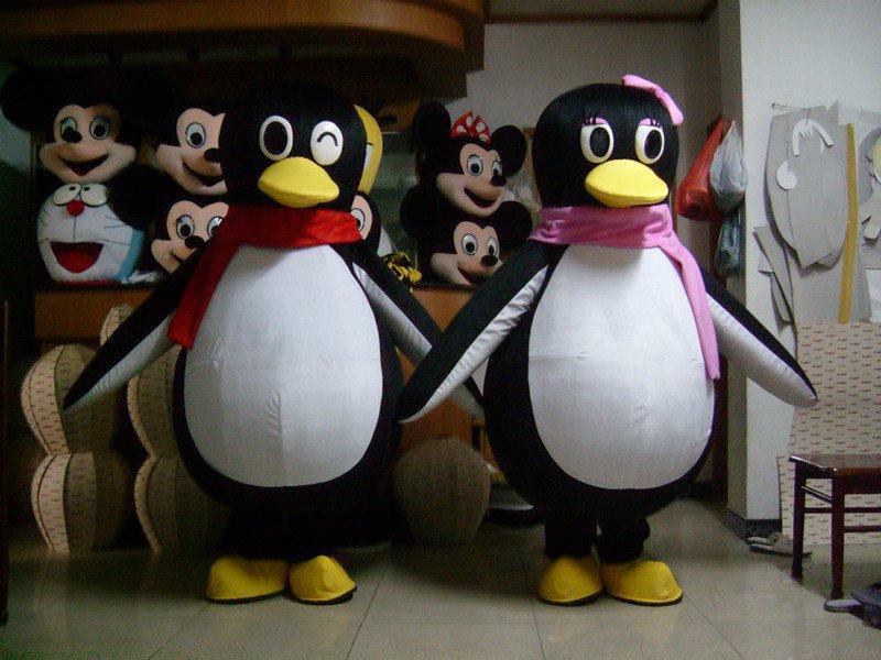 Penguin Cartoon Costumes Cartoon Clothing Cartoon Walking Doll Clothing Penguin Qq Its Opening Ceremony Mascot Costume