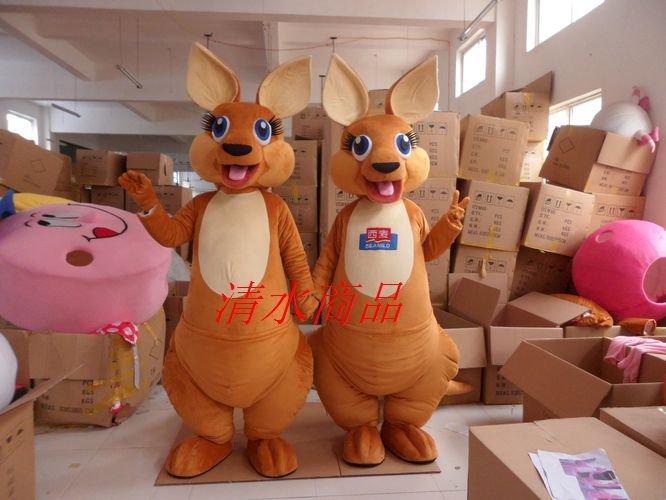 Simeon Kangaroo Adult Cartoon Clothing Performance Clothing Walking Cartoon Props Kangaroo Mascot Costume