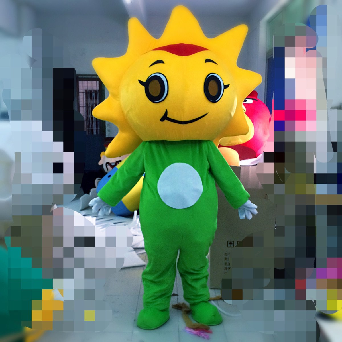 Sunflower Cartoon Doll Clothing Doll Festival Japanese Theatrical Performances Advertising Festival Opening Promotional Props Mascot Costume