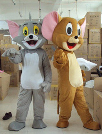 Animation Film and Television Cartoon Cat Celebration Activities Mouse Geely Clothing Doll Clothing Tom and Jerry Mascot Costume