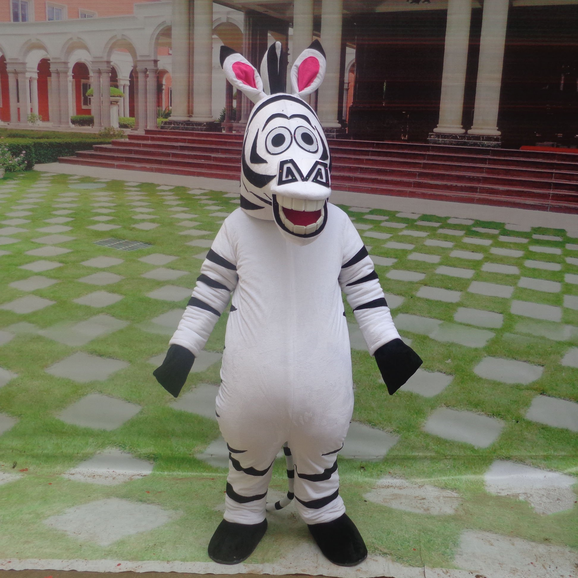 Cartoon Doll Clothing Cartoon Walking Doll Clothing Cartoon Show Clothing Doll Dress Zebra Animal Mascot Mascot Costume