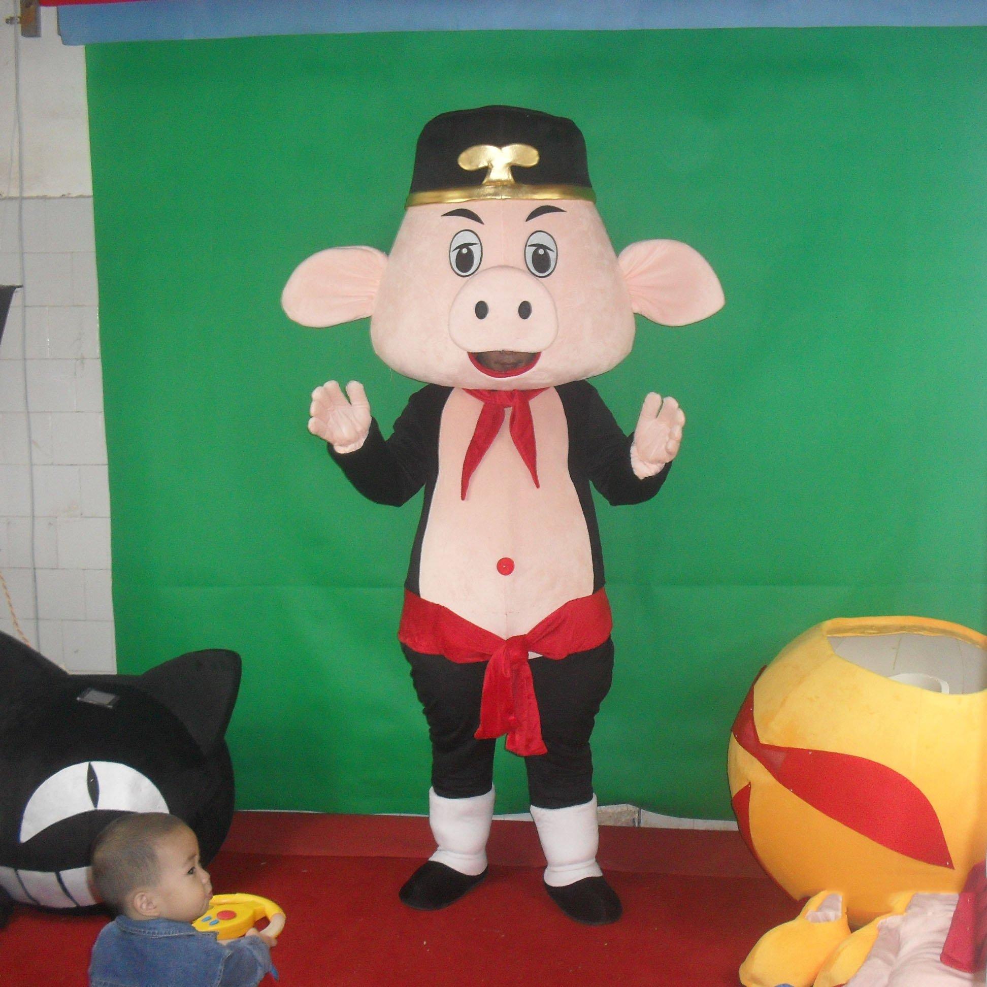 Pig Cartoon Dolls Walking Cartoon Doll Clothing Cartoon Dolls Dress Costumes Mascot Costume
