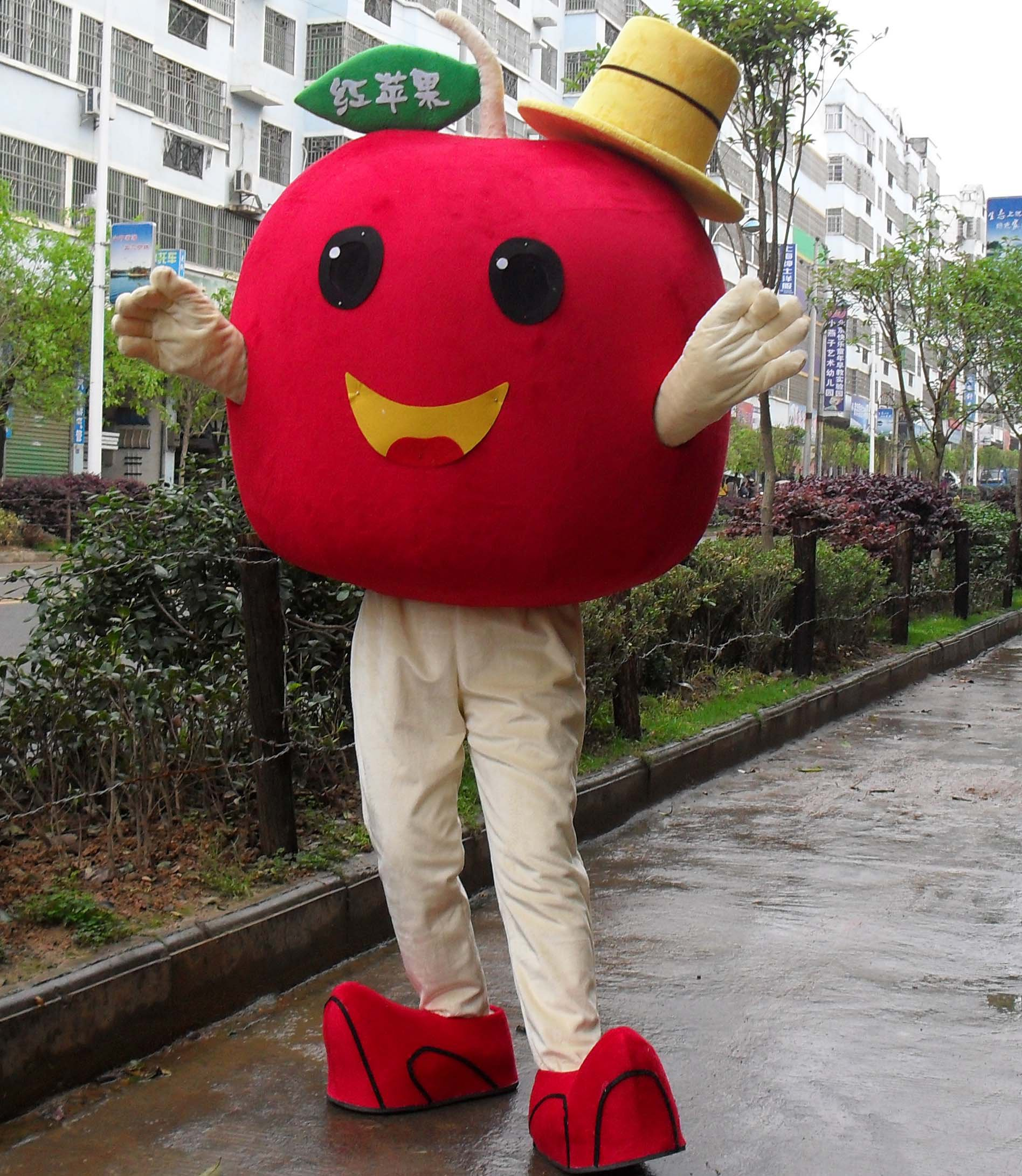 Red Apple Cartoon Doll Clothing Cartoon Walking Doll Clothing Cartoon Show Clothing Cartoon Fruit Doll Clothes Mascot Costume