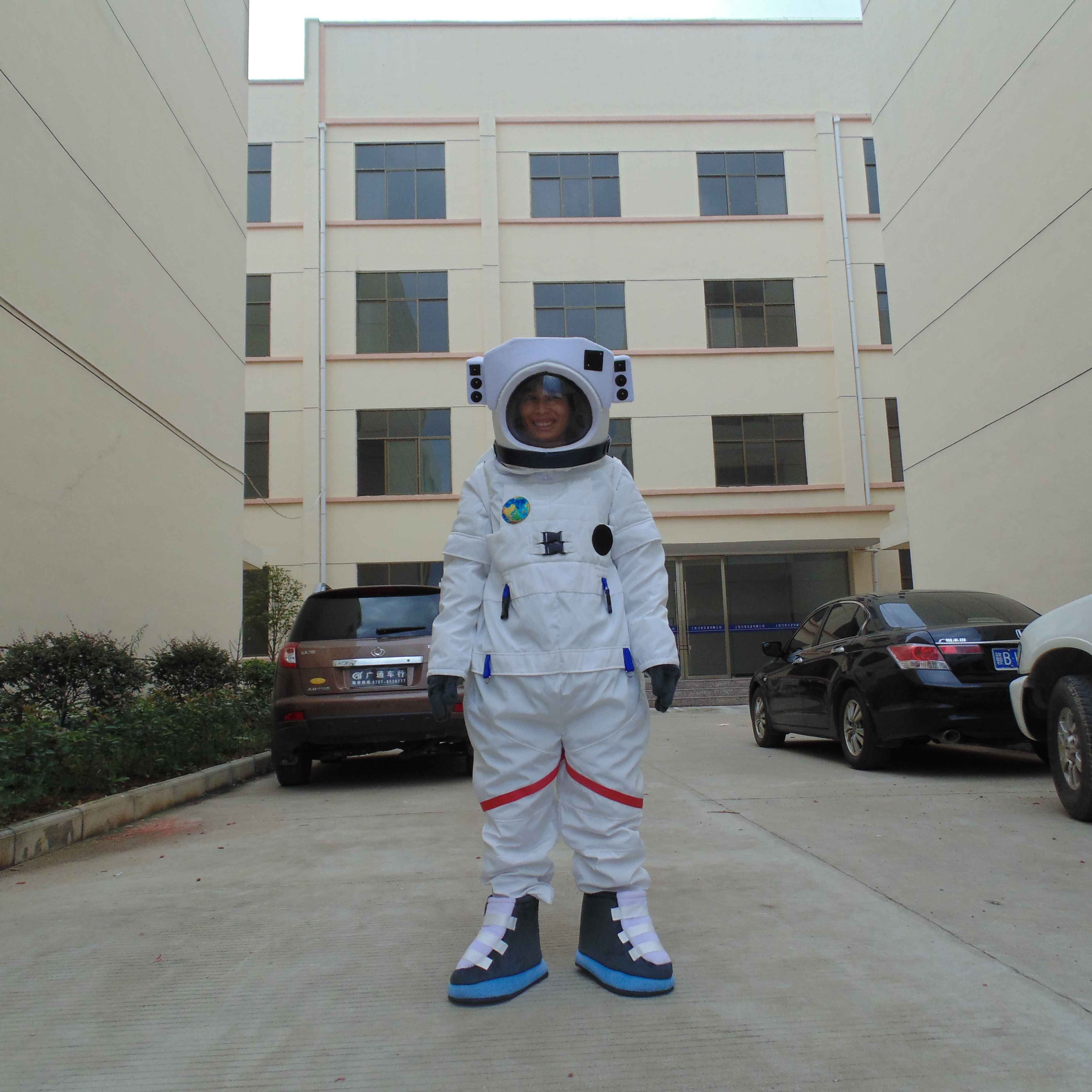 Chinese Spacesuit Walking Doll Cartoon Clothing Spacesuit Spacewalk Shenzhou Ten Adult Dress Clothes Mascot Costume