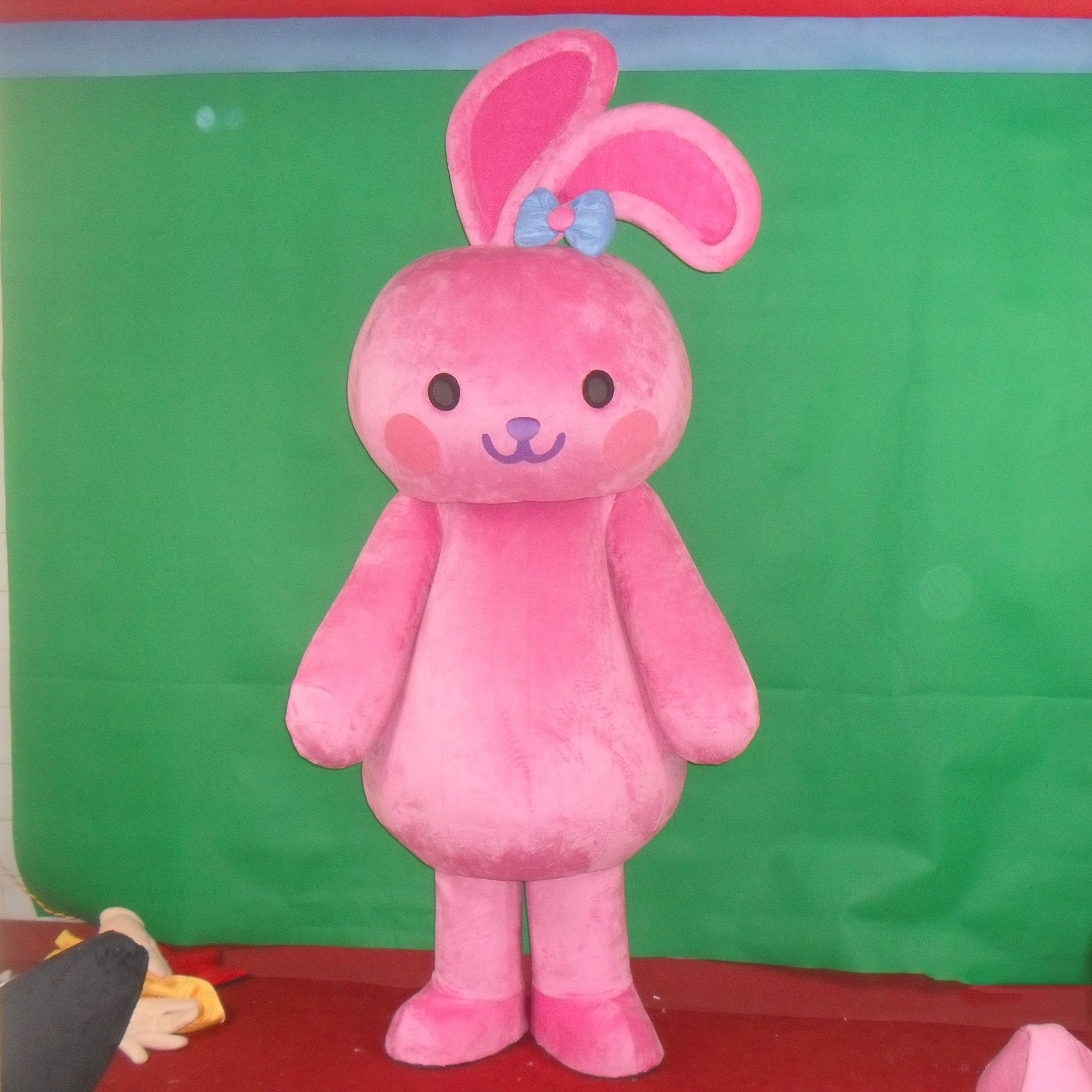 Cute Bunny Cartoon Doll Clothing Cartoon Walking Doll Clothing Cartoon Show Clothing Pink Rabbit Doll Clothing Mascot Costume