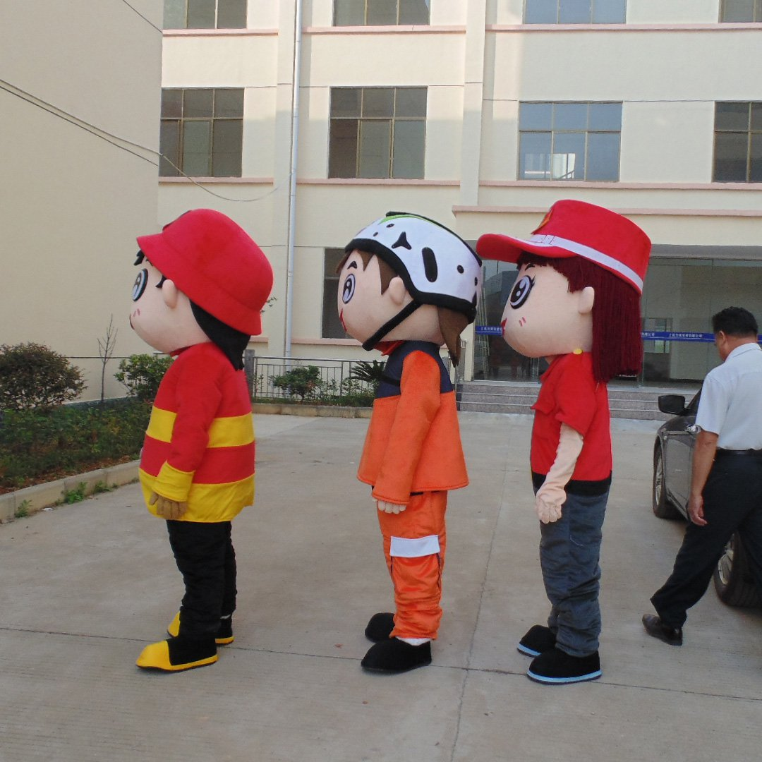 Fire Safety and Security Activities of Advertising Mascot Costume Mascot Costumes Cartoon Doll Clothing
