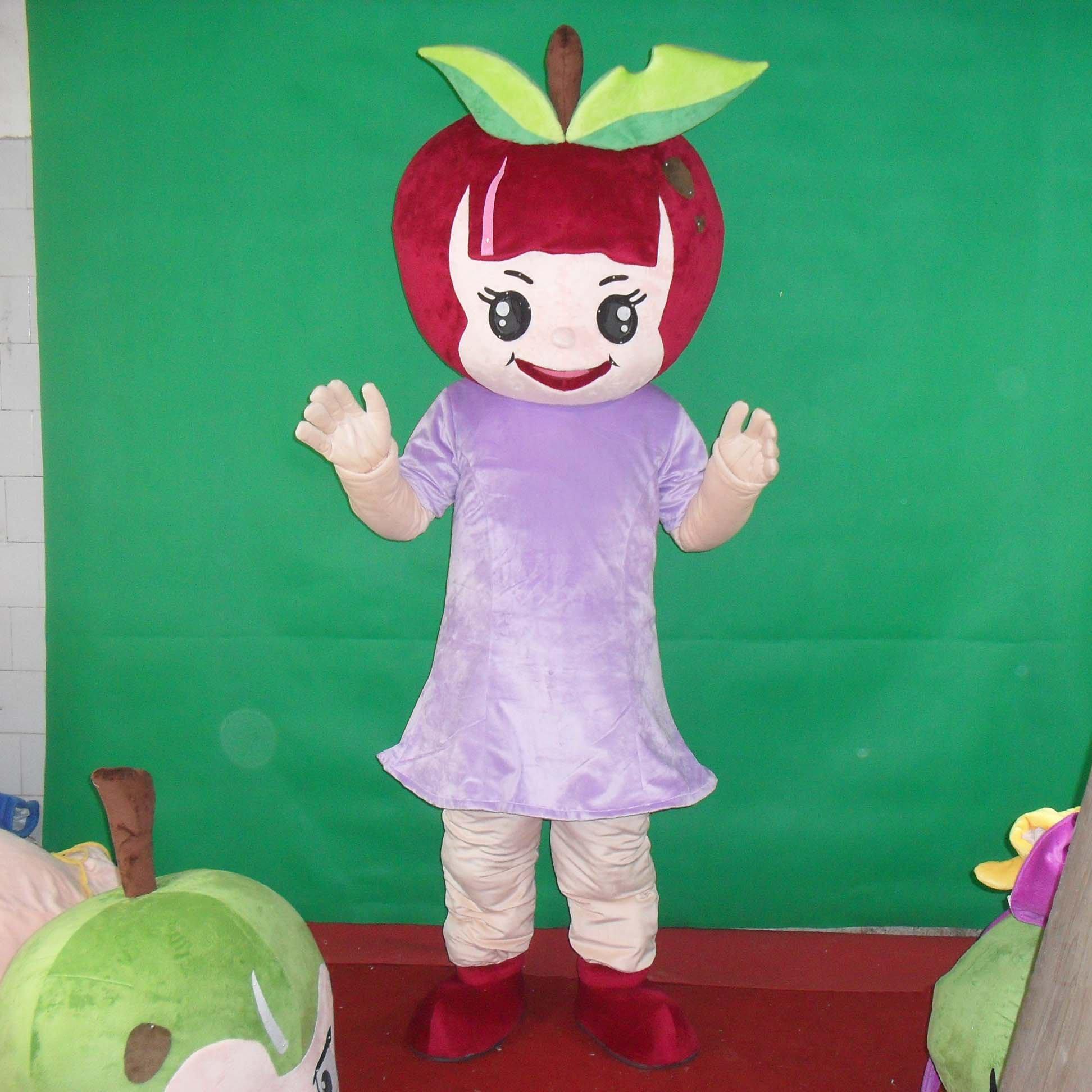 Red Apple Red Apple Walking Cartoon Doll Clothing Cartoon Show Clothing Cartoon Dolls Apple Mascot Costume