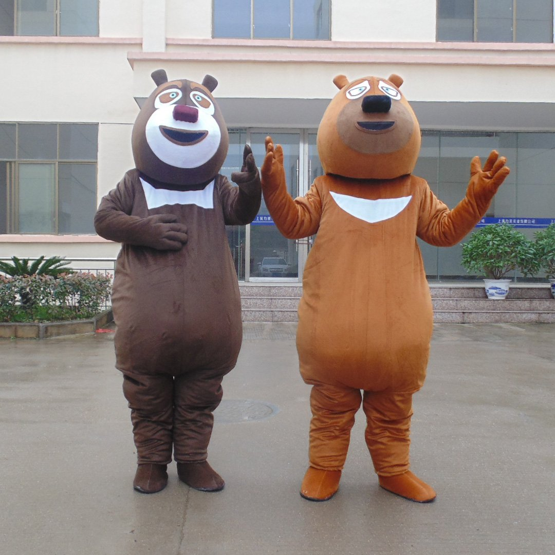 Cartoon Doll Bear Bear Spotted Two Xiongda Guang Head Strong Doll Clothing Props Animation Adult Bear Walking Clothing Mascot Costume