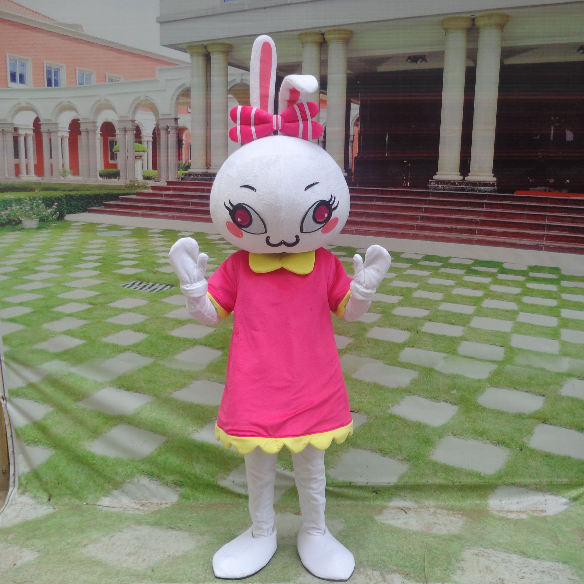 Cute Little Bunny Cartoon Doll Clothing Cartoon Walking Doll Clothing Cartoon Show Clothing Plush Doll Clothes Mascot Costume