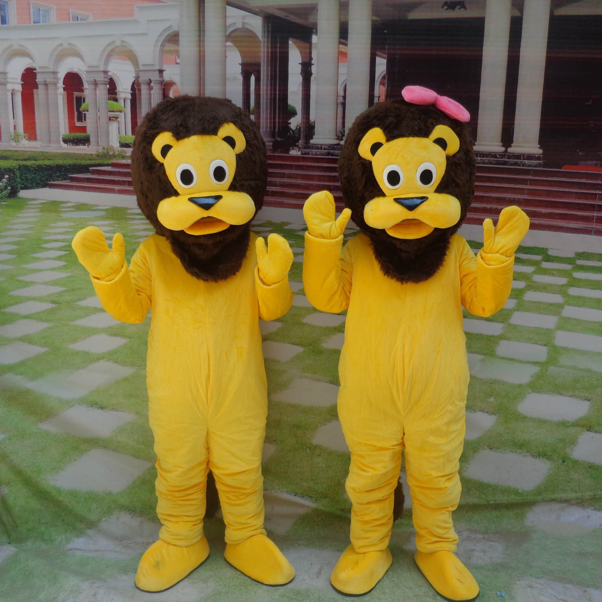 Lion Cartoon Doll Clothing Cartoon Walking Doll Clothing Cartoon Show Clothing Doll Clothes Hairy Lion Mascot Costume