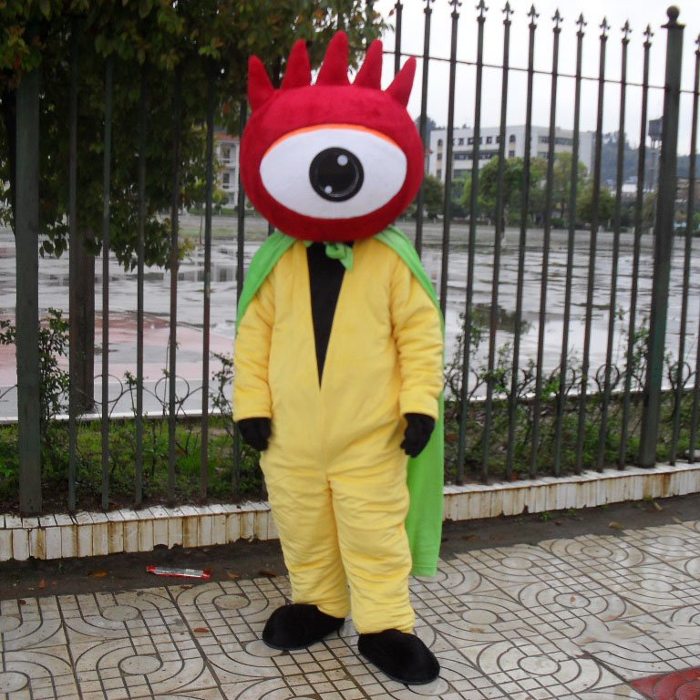 Sina Flag Characters Walking Doll Cartoon Doll Clothing Cartoon Show Clothing Ronin Mascot Costume