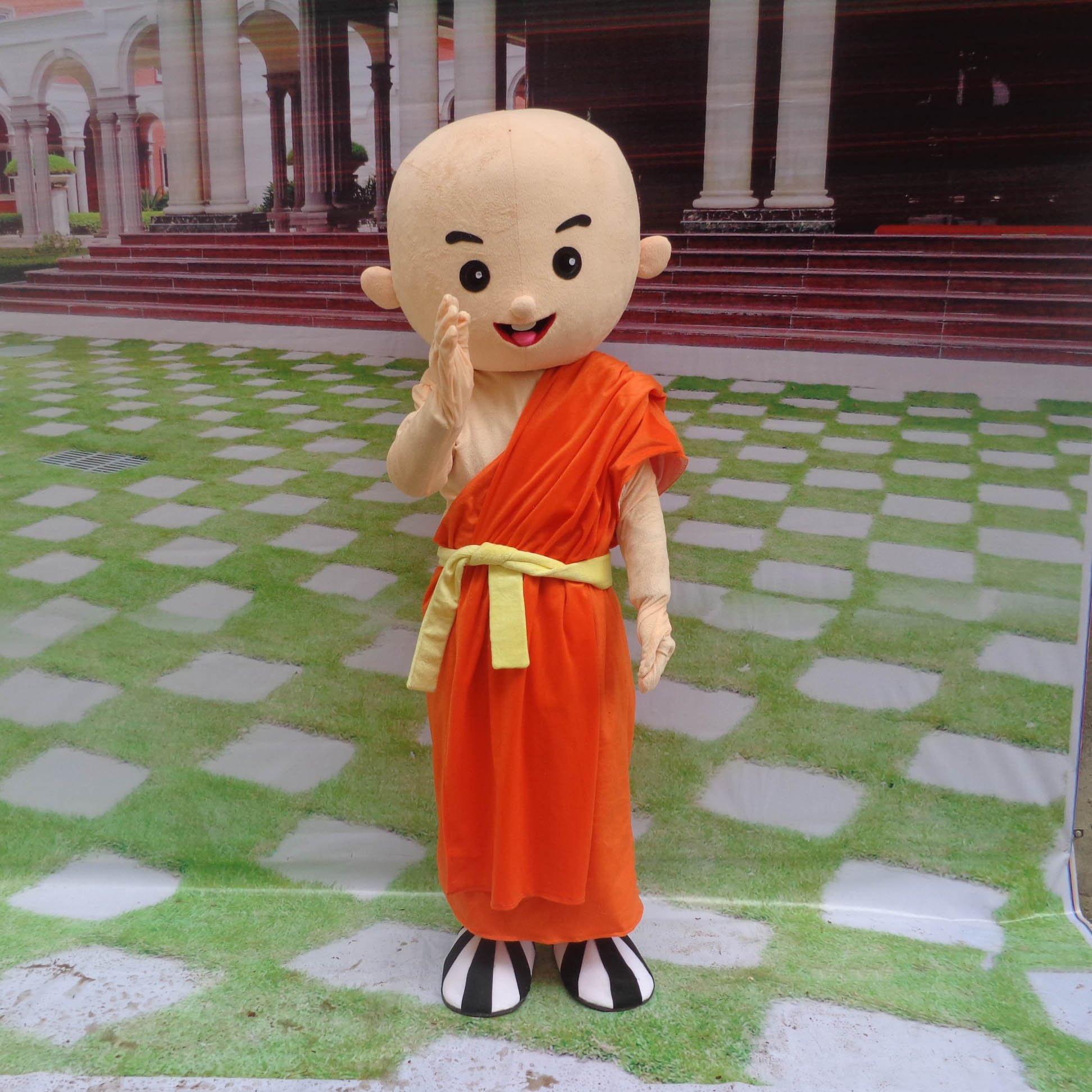 Cartoon Doll Clothing Cartoon Walking Doll Clothing Cartoon Show Clothing Doll Clothes Monk Mascot Costume