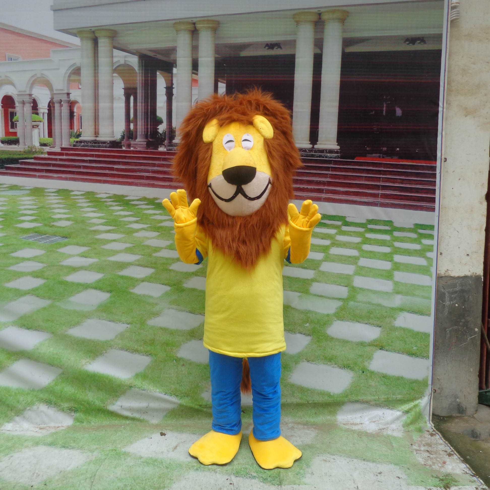 Cartoon Doll Clothing Cartoon Walking Doll Clothing Doll Clothing Doll Clothing Cartoon Show Props Lion King Mascot Costume