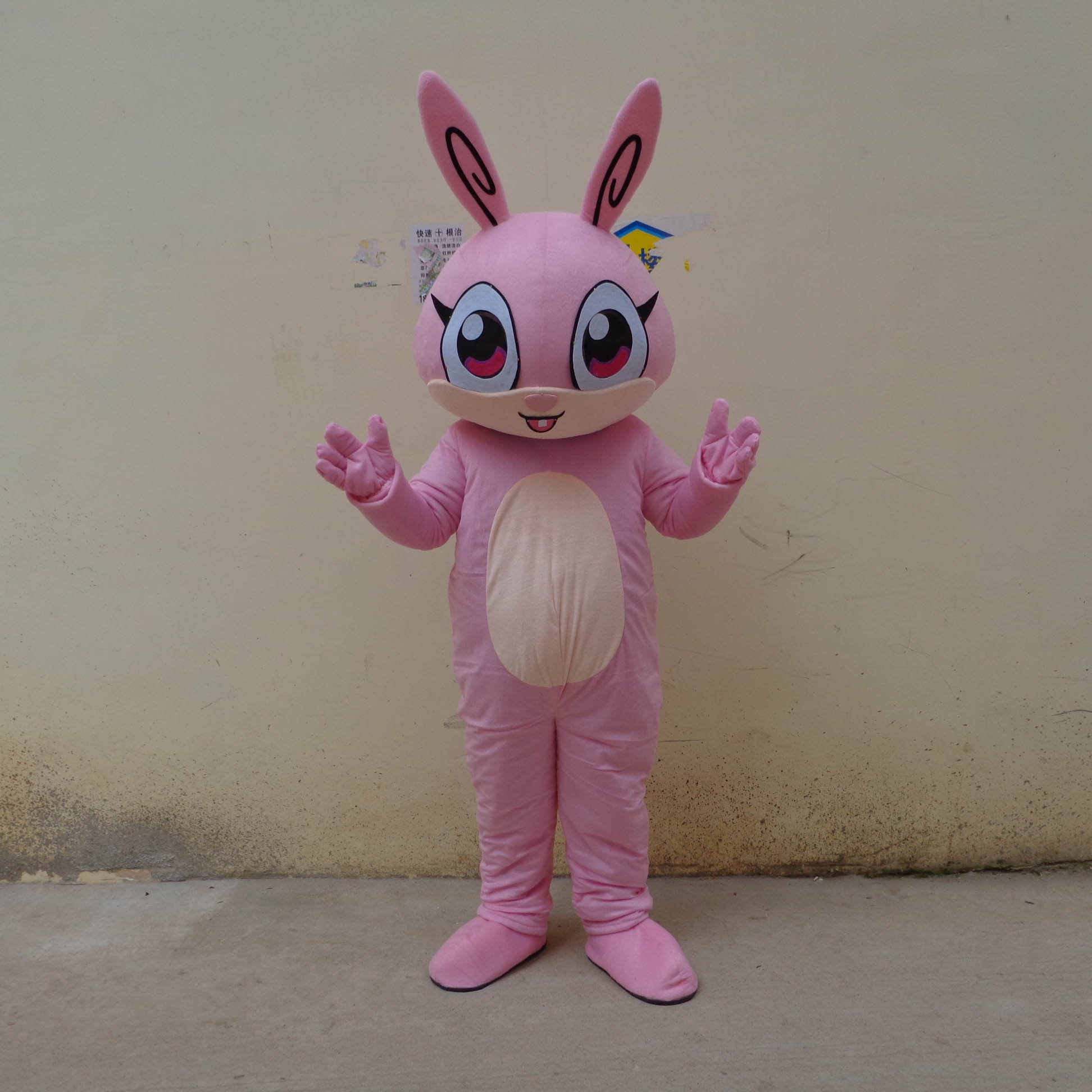Cute Little Bunny Cartoon Doll Clothing Cartoon Walking Doll Clothing Cartoon Show Clothing Plush Toys Mascot Costume