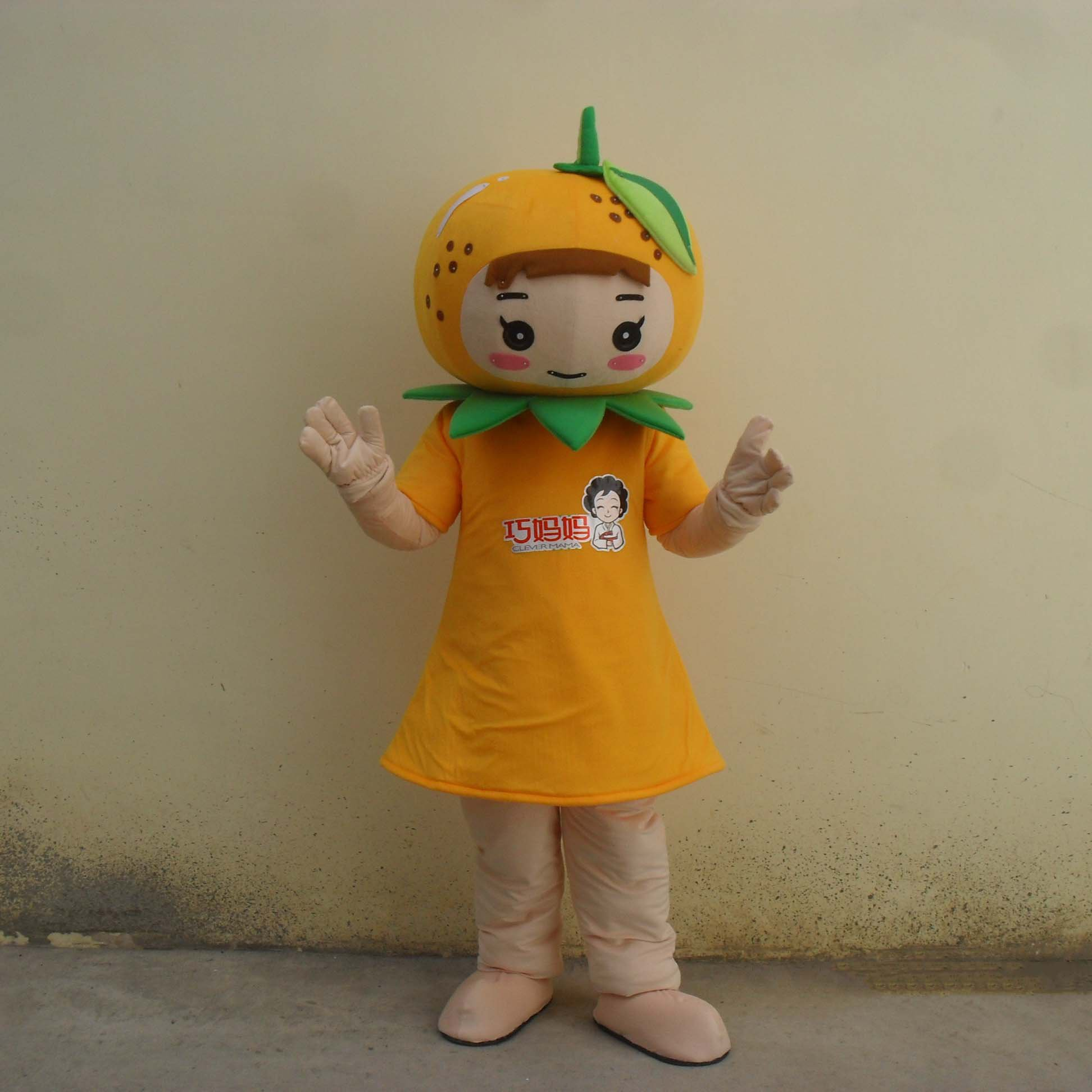 Orange Cartoon Doll Clothing Cartoon Show Props Walking Dolls Orange Oranges Advertising Mascot Costume