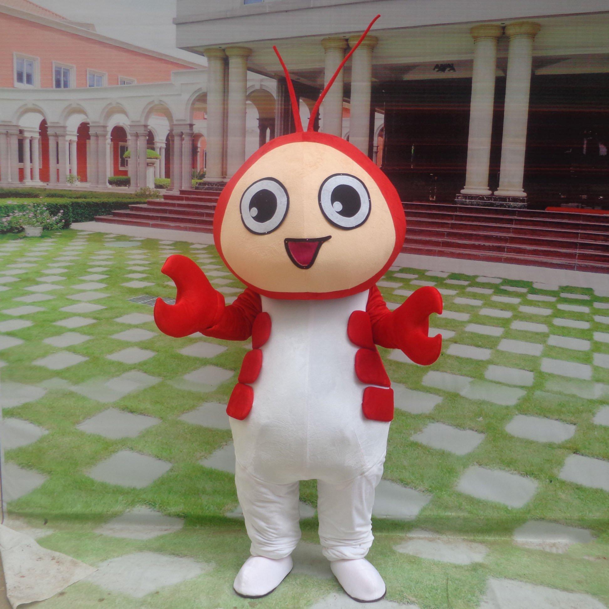 Cartoon Doll Clothing Cartoon Walking Doll Clothing Cartoon Show Clothing Plush Dolls Doll Clothes Shrimp Mascot Costume
