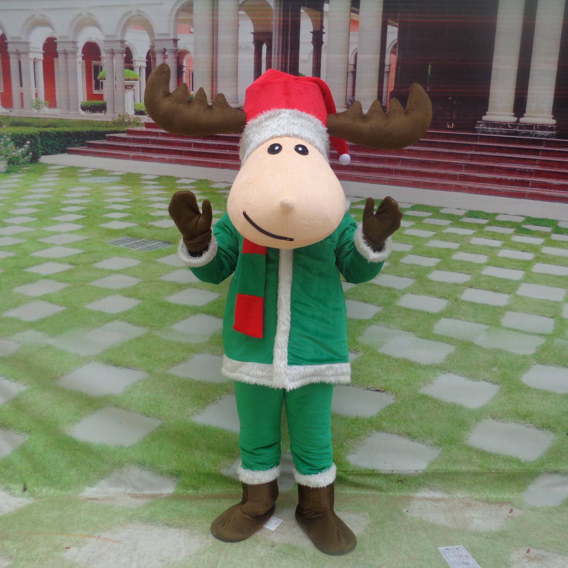 Cartoon Doll Doll Clothing Cartoon Walking Doll Stage Performance Performance Clothing Christmas Deer Advertising Dolls Mascot Costume