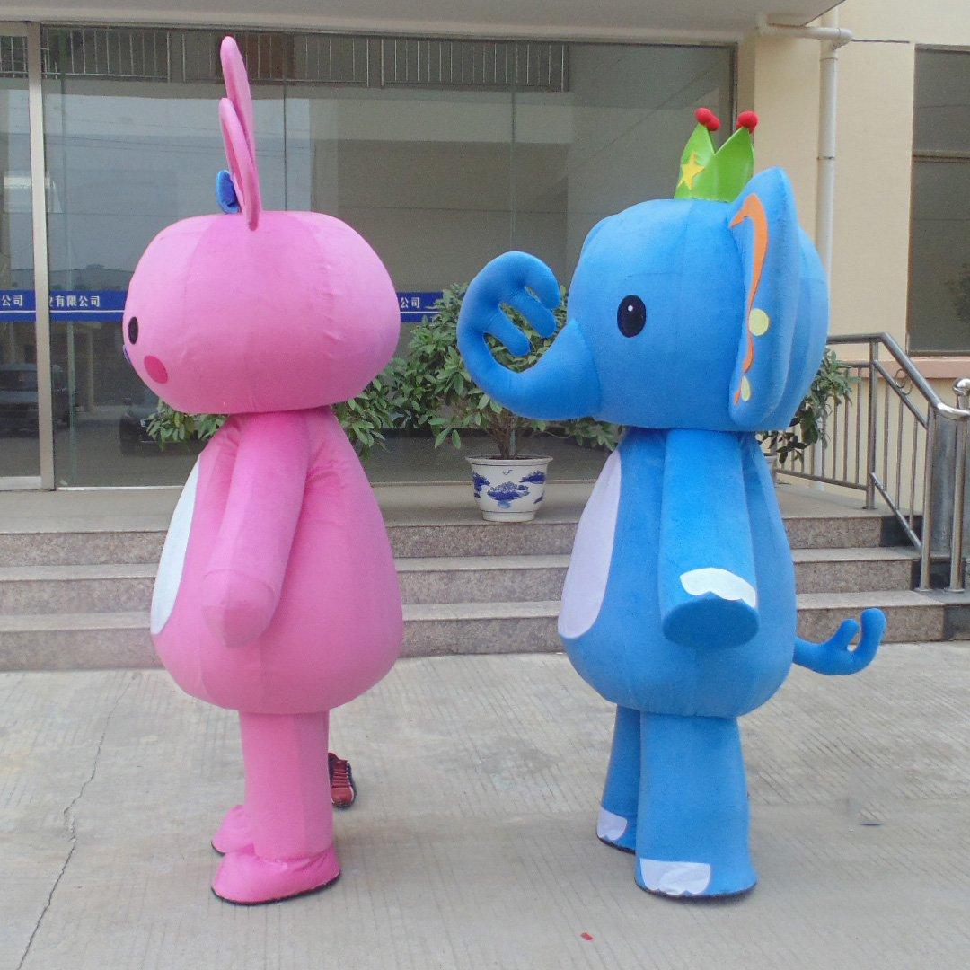 Elephant Cartoon Doll Clothing Cartoon Doll Clothing Cartoon Props Activities Advertising Clothing Rainbow Apparel Mascot Costume