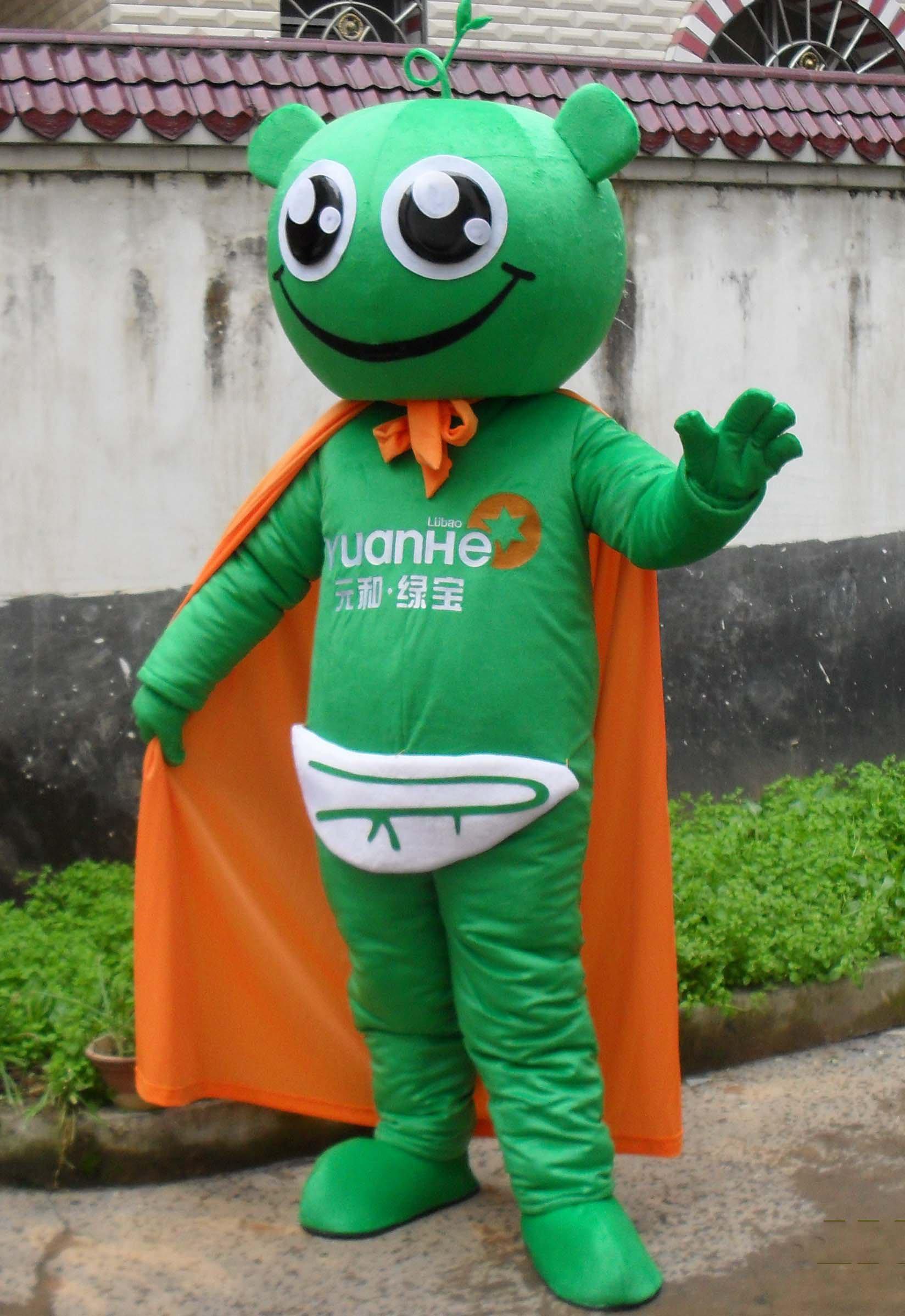 Lucky Cartoon Doll Clothing Cartoon Walking Doll Clothing Cartoon Show Clothing Emerald Advertising Mascot Costume