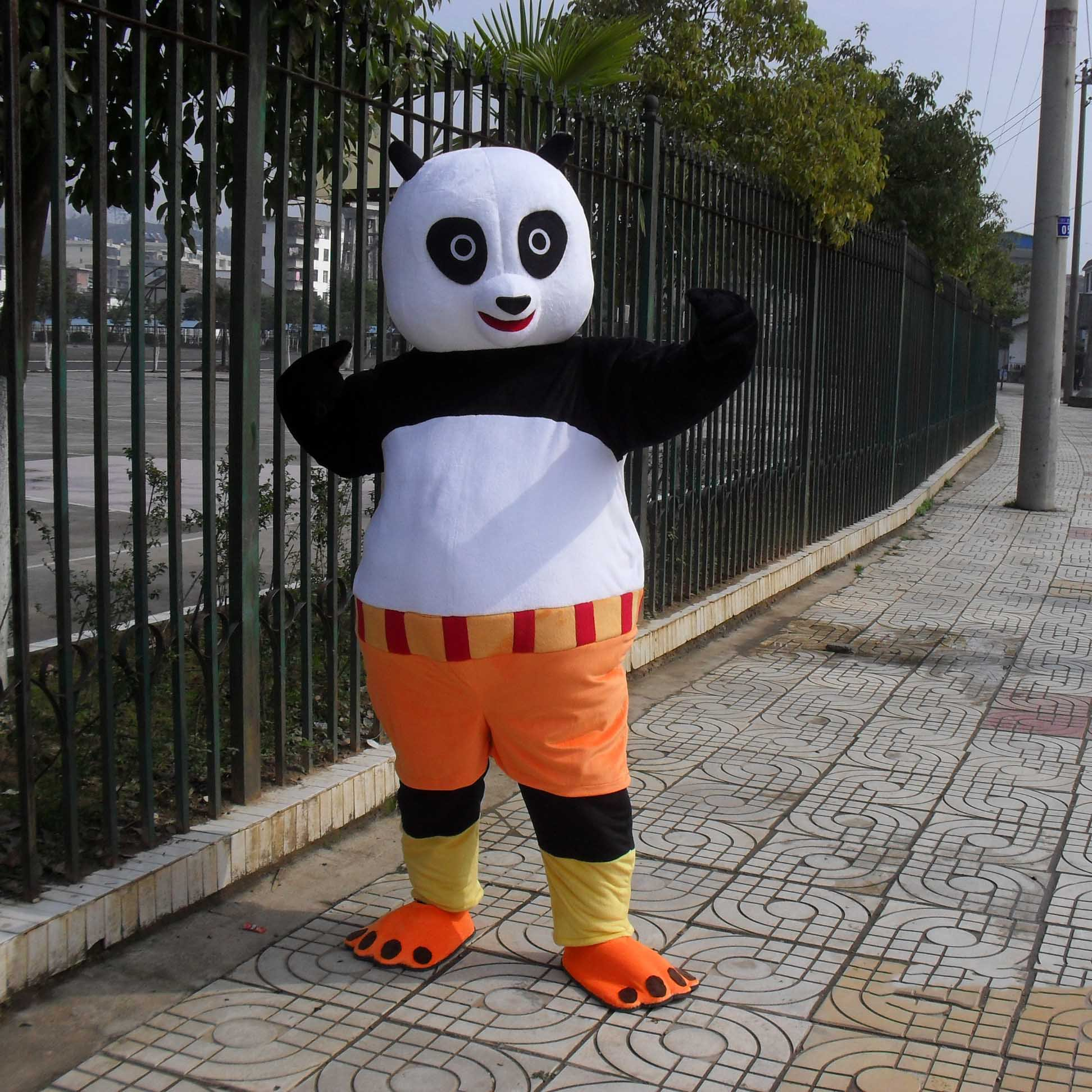 Television Cartoon Characters Walking Doll Cartoon Doll Clothing Doll Kung Fu Panda Cartoon Costumes Mascot Costume