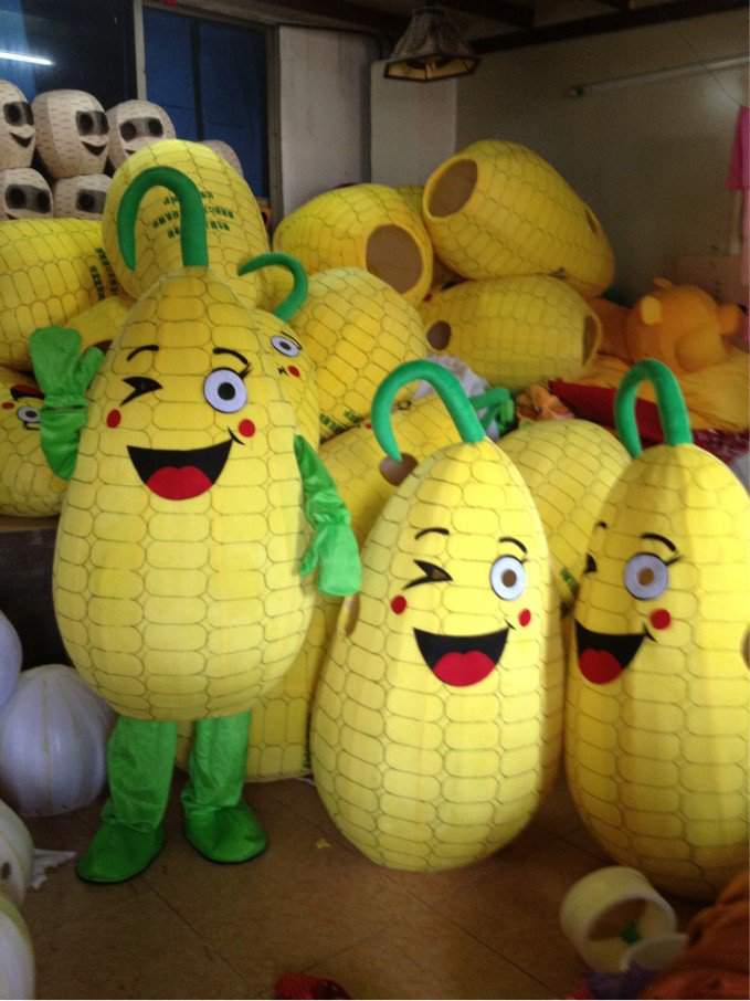 Fruits and Vegetables Cartoon Clothing Cartoon Clothing Doll Clothing Corn Maize Corn Vegetable Cartoon People Mascot Costume