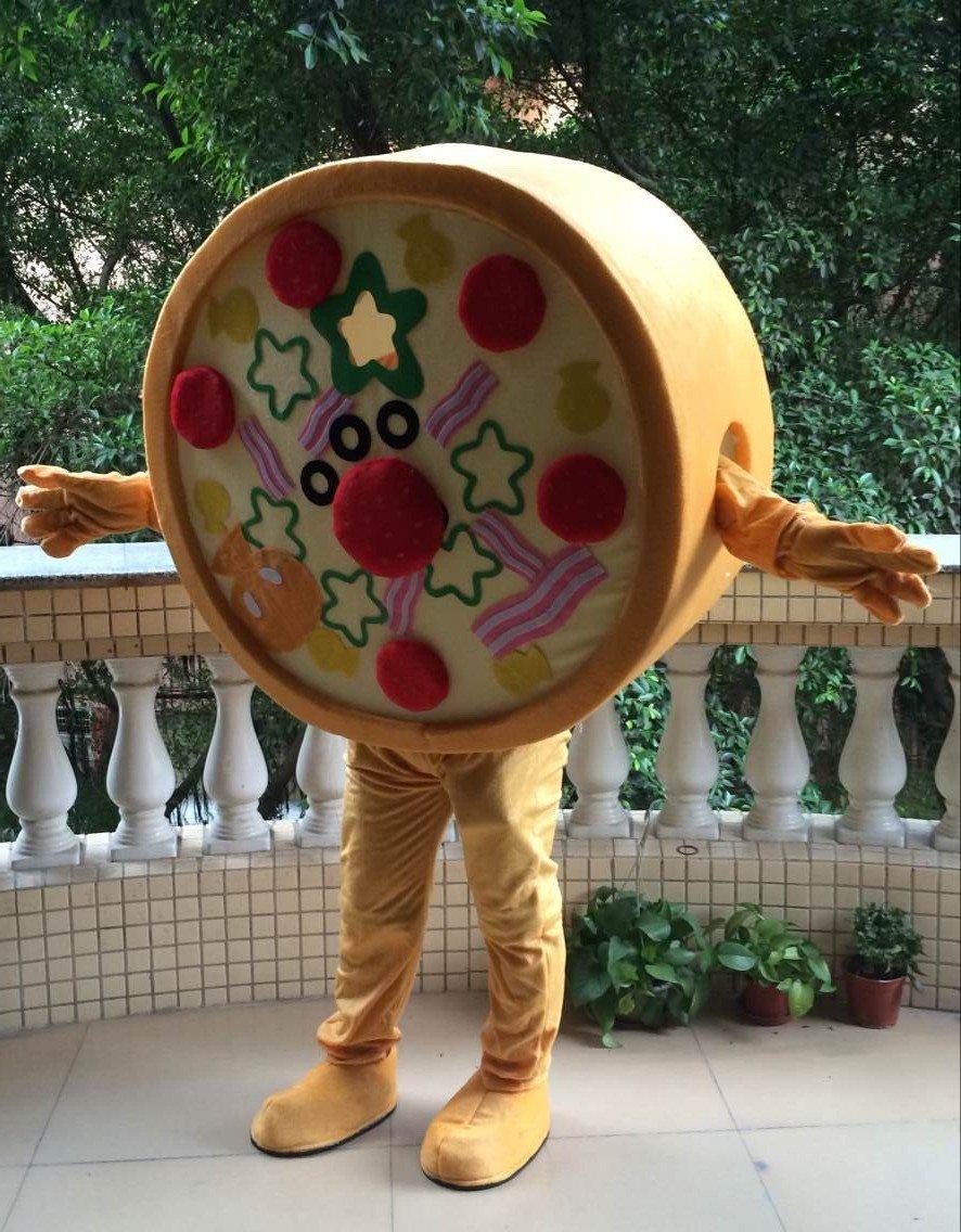 Cartoon Cartoon Doll Clothing Doll Clothing Doll Clothing Bi Saka Pizza Through Clothing Mascot Costume