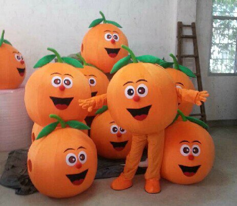 Manufacturers Cartoon Doll Clothing Doll Clothing Cartoon Orange Fruit Doll Doll Clothing Mascot Costume