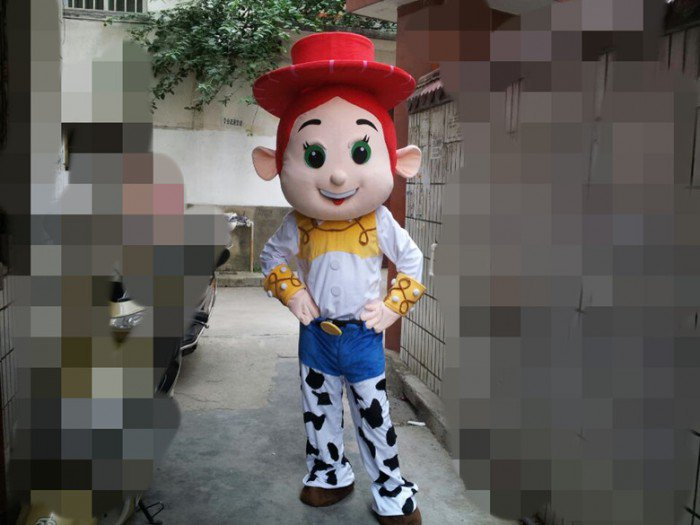 Cartoon Doll Doll Clothing Cartoon Show Props Walking Cartoon Doll Clothing Cartoon Dolls Cowgirl Mascot Costume