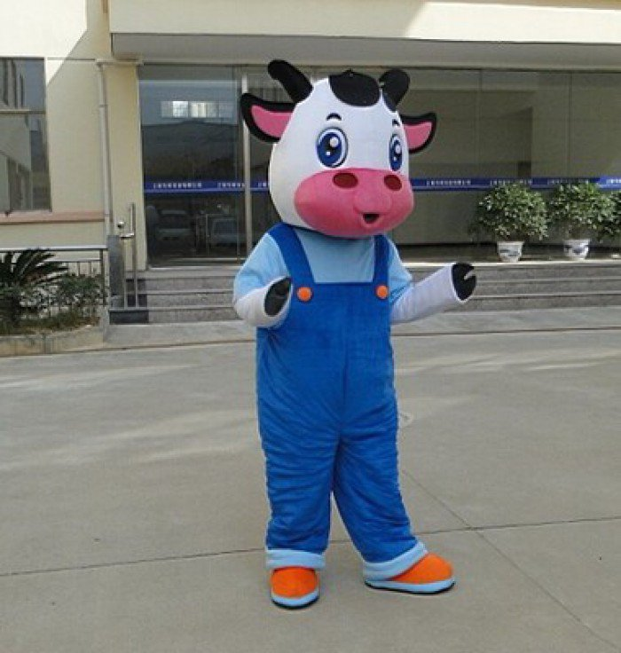 Cute Cow Cartoon Doll Clothing Cartoon Dolls Clothing Walking Doll Doll Cartoon Costumes Props Mascot Costume