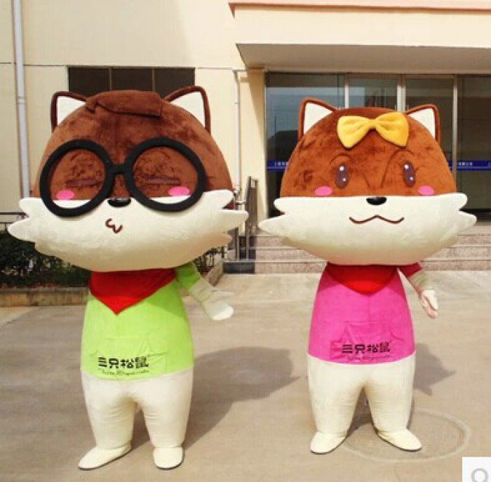 Mouse Cartoon Squirrel Cartoon Doll Clothing Cartoon Dolls Mouse Costumes Performance Clothing Mascot Costume