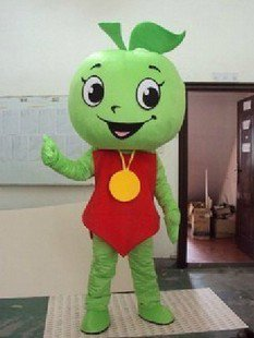 Green Apple Adult Costume Doll Dress Performance Props Dress Green Apple Walking Cartoon Doll Clothing Mascot Costume