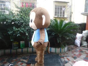 Coffee Monkey Cartoon Dolls Walking Clothing Performance Props Vest Jacket Stuffed Hedgehog Coffee Clothes Mascot Costume