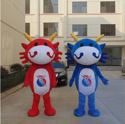 Zodiac Dragon Cartoon Mascot Costume Design Cartoon Dolls Dolls Dolls Fashion Show Props