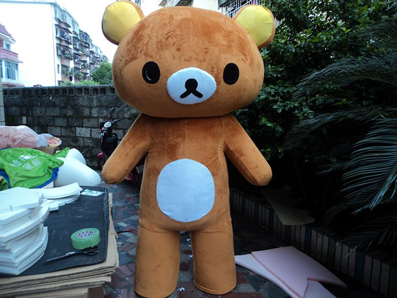 Easily Bear Cartoon Dolls Doll Clothes Lazy Bear Rilakkuma Cartoon Show Clothing Wholesale Professional Mascot Costume