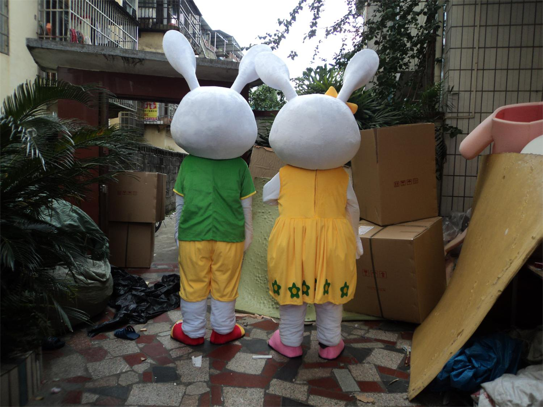 Tanabata Couple Rabbit Costume Adult Plush Toy Rabbit Doll Large Dolls Walking Cartoon Doll Mascot Costume