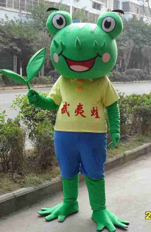 Frog Walking Doll Cartoon Clothing Cartoon Doll Clothing Film and Television Animation Cartoon Costumes Stage Performance Clothing Mascot Costume