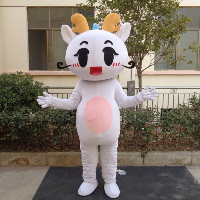 Sweetheart Dragon Cartoon Dolls Cartoon Clothing Apparel Clothing Cartoon Show Clothing Long Walk Mascot Costume