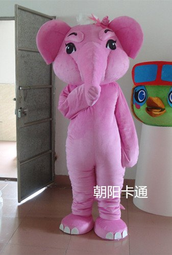 Elephant Cartoon Doll Clothing Businesses Opening Promotional Props Dolls Walking Clothing Pink Elephant Mascot Costume