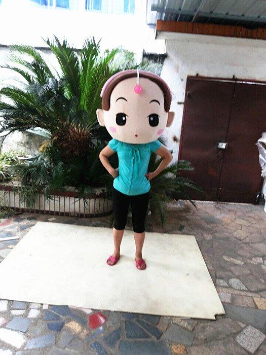 Anti-pressure Endometrial Cartoon Girl Doll Cartoon Walking Doll Clothing Props Cos Hedging Girl Mascot Costume