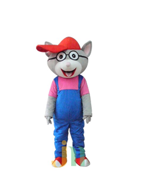 Cartoon Cat Glasses Walking Doll Clothing Doll Cartoon Cat Glasses Hedging Mascot Costume